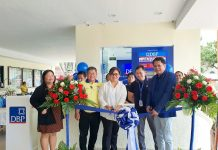 Shown in the photo during the opening were Alegria municipal mayor Verna V. Magallon (third from left) and DBP senior vice president Fernando G. Lagahit (right). Joining them were (from left): Alegria municipal treasurer Niza A. Cuevas; Alegria vice mayor Gilberto F. Magallon, and DBP manager Christ E. Valdehueza.