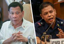President Rodrigo Duterte and Police Lieutenant Colonel Jovie Espenido