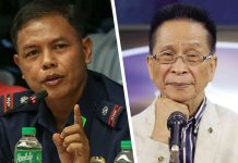 Combined photo of Police Lieutenant Colonel Jovie Espenido (left) and Presidential spokesperson Salvador Panelo.