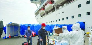 Filipino crew members of Diamond Princess disembarked the quarantined ship in Japan on Tuesday afternoon. They were transported from the Yokohama Port, where the cruise ship has been docked for weeks, to the Haneda Airport. CNN PH