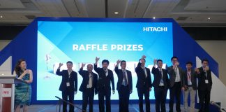 HITACHI 2020 DEALER CONVENTION. (from left) Wang, Sheng Te – chief finance officer of Johnson Controls-Hitachi Air Conditioning Philippines, Inc.; Lin, Chun Po – Manufacture Division president of Johnson Controls-Hitachi Air Conditioning Philippines, Inc.; Yang, Yi Chih – CEO of Johnson Controls-Hitachi Air Conditioning Philippines, Inc.; Peter Huang – Sales vice president of Johnson Controls-Hitachi Air Conditioning Philippines, Inc.; Ho, Sze Uan – Marketing Department manager of Johnson Controls-Hitachi Air Conditioning Philippines, Inc.; Kevin Gao – Service Department manager of Johnson Controls-Hitachi Air Conditioning Philippines, Inc.; Lin, Chi Chang – Project Department manager of Johnson Controls-Hitachi Air Conditioning Philippines, Inc.; Estelito Aliño Jr. – General Affairs Department manager of Johnson Controls-Hitachi Air Conditioning Philippines, Inc and Huang, Yi Cheng – Design Department manager of Johnson Controls-Hitachi Air Conditioning Philippines, Inc.