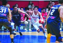 Jhaps Bautista anchors the offense of Basilan Steel to send Iloilo United Royals on the brink of elimination during their quarterfinal clash last night. MPBL