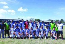The NOPSSCEA-University of St. La Salle tertiary men's football team. EDWIN CARO LARU-AN