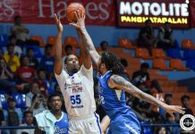 Nick King top-scored with 28 points but committed a game-high four turnovers in San Miguel-Alab Pilipinas' defeat to the Malaysian Dragons in the 2019-2020 ASEAN Basketball League. TIEBREAKER TIMES PHOTO