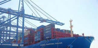 Data released by Finance secretary Carlos Dominguez III on Wednesday shows that the number of twenty-foot equivalent unit containers from China fell by 62.15 percent in the first half of this month to 11.05 compared to 29.195 during the same period last year. XINHUA