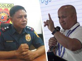 "Police Lieutenant Colonel Jovie Espenido and Sen. Ronald ""Bato"" Dela Rosa."