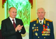 The last marshal of the Soviet Union Dmitry Yazov (right), with President Vladimir Putin, has died aged 95