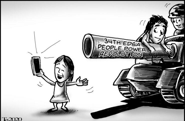 Editorial cartoon for February 25, 2020