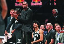 """""""Everyone be careful. Take care of yourself and quarantine,"""" says two-time National Basketball Association (NBA) champion and one-time NBA Most Valuable player Kevin Durant of the Brooklyn Nets after testing positive for the coronavirus disease-2019. PHILADELPHIA INQUIRER"""