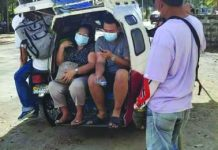 Public utility vehicles (PUVs) such as tricycles are instructed to observe social distancing to prevent spread of coronavirus disease. PUVs should only take 50 percent of their passenger capacity. PNA
