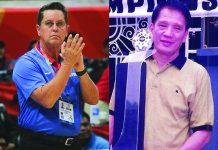 """""""It is crushing news to me, especially at this time when I cannot pay my respects to him and his family,"""" says Barangay Ginebra San Miguel Kings coach Tim Cone (left) on the passing of mentor Januario """"Aric"""" del Rosario(right). TIEBREAKER TIMES"""
