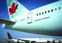 Air Canada has suspended most of its international flights due to the coronavirus. AFP