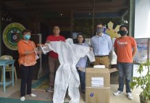 Panay Electric Co. (PECO) Corporate Communications Officer Jon Mikel Afzelius delivers personal protective equipment to the Western Visayas Medical Center in Iloilo City as part of PECO's effort to help in the fight of the Ilonggos against the lingering COVID-19 crisis.