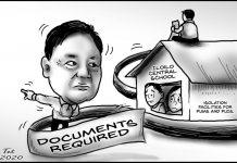 Editorial cartoon for April 3, 2020